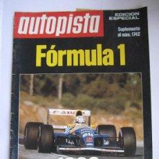Coches: AUTOPISTA SUPLEMENTO FORMULA 1 1992. Lote 29266775