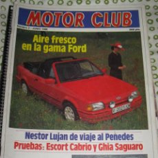 Coches: QUEX COCHES AUTOMOVIL RALLY FORMULA 1 - REVISTA FORD MOTOR CLUB Nº 2 FORD ESCRT . Lote 29324373