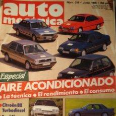 Coches: REVISTA AUTOMECANICA - NUM. 219 - CITROEN BX - VW PASSAT - FORD SIERRA COSWORTH . Lote 139486396