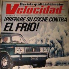 Coches: REVISTA VELOCIDAD - NUM. 533 - SEAT FABRICARÁ EL 127 - FIAT 130 EN PORTADA. Lote 245271300