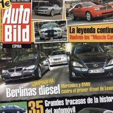 Coches: REVISTA AUTO BILD Nº 36 AÑO 2006. COMPARATIVA: BMW 320D, LEXUS IS 220D Y MERCEDES C220 CDI. . Lote 29501831