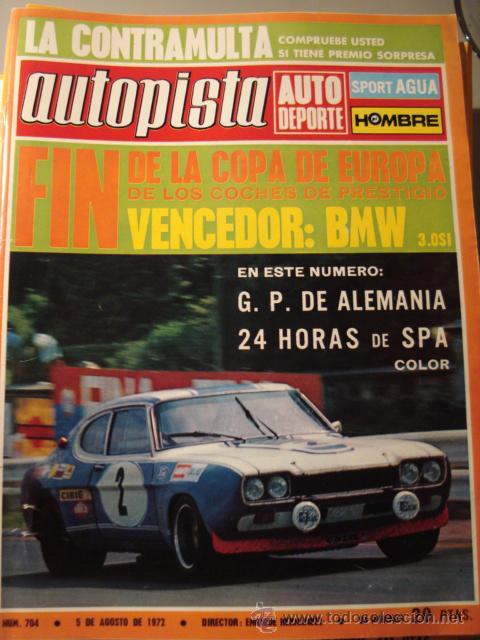REVISTA AUTOPISTA - NUM. 704 - RENAULT 16 TL - (Coches y Motocicletas Antiguas y Clásicas - Revistas de Coches)