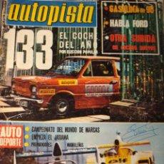 Coches: REVISTA AUTOPISTA - NUM. 844 - SEAT 133. Lote 29609802