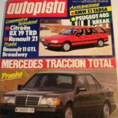 Coches: AUTOPISTA 1508 JUNIO 1988. Lote 29663583