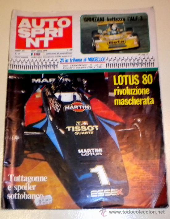 AUTOSPRINT Nº 12 - AÑO XIX - MARZO 1979 ( EN ITALIANO ) (Coches y Motocicletas Antiguas y Clásicas - Revistas de Coches)