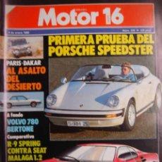 Coches: REVISTA MOTOR 16.Nº 220.9 ENERO 1988.VOLVO.PORSCHE.BUGATTI... Lote 29858125