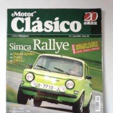 Coches: -MOTOR CLASICO N 221-SIMCA RALLY -ALFA ROMEO 1900 -ZAGATO-. Lote 29976130