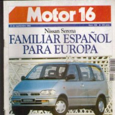 Coches: MOTOR16 1992: FORD ESCORT COSWORTH; SKODA FAVORIT; SAAB 9000; VOLVO 850; AUDI 100; ETC.... Lote 29982739