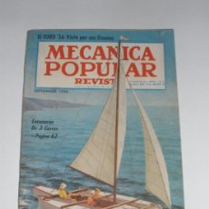 Coches: MECÁNICA POPULAR - SEPTIEMBRE 1956. Lote 30174418