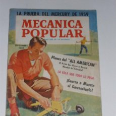 Coches: MECÁNICA POPULAR - SEPTIEMBRE 1959. Lote 30174707