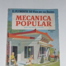 Coches: MECÁNICA POPULAR - SEPTIEMBRE 1960. Lote 30175100
