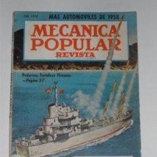 Coches: MECÁNICA POPULAR - FEBRERO 1958. Lote 30175206
