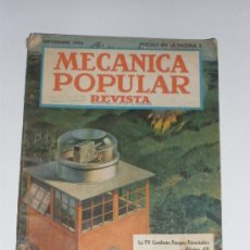 Coches: MECÁNICA POPULAR - SEPTIEMBRE 1954. Lote 30175280