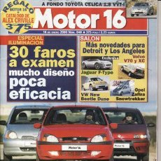 Coches: REVISTA MOTOR 16 Nº 848 AÑO 2000. PRU: TOYOTA CELICA 1.8 VVT-I. COMP: TOYOTA YARIS 1.3,PUNTO 1.2 16V. Lote 171459184