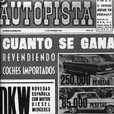 Auto: AUTOPISTA 293 02 SEPTIEMBRE 1964. Lote 30349975