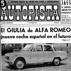Auto: AUTOPISTA 301 28 OCTUBRE 1964. Lote 30350019