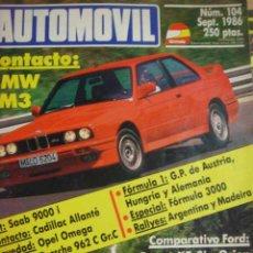 Coches: REVISTA AUTOMOVIL FORMULA NUMERO 104 SEPTIEMBRE 1986. Lote 113135088