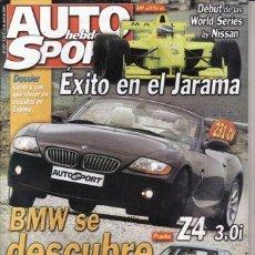 Coches: REVISTA AUTO HEBDO SPORT Nº 917 AÑO 2003. PRUEBA: BMW Z4 3.0. MERCEDES CLK 55 AMG.. Lote 30885198