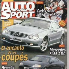 Coches: REVISTA AUTO HEBDO SPORT Nº 909 AÑO 2003. PRUEBA: MERCEDES SL55 AMG. HYUNDAI COUPE 2.0 CVVT.. Lote 47644056