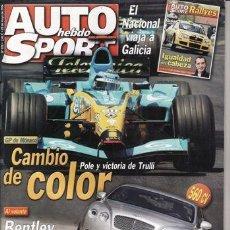 Coches: REVISTA AUTO HEBDO SPORT Nº 976 AÑO 2004. PRUEBA: MERCEDES SLK 200 K.. Lote 30911875