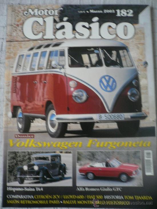 MOTOR CLASICO Nº 182, MARZO DE 2003 (Coches y Motocicletas Antiguas y Clásicas - Revistas de Coches)