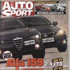 Coches: REVISTA AUTO HEBDO SPORT Nº 1074 AÑO 2006. PRU. MITSUBISHI L200. VW GOLF GT 1.4 TSI. COMP: ALFA 2.4. Lote 30999744