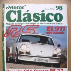 Auto: MOTOR CLASICO Nº 98 MOTOSACOCHE 206 PORCHE 911 CARRERA RS 2.7 DELAHAYE 135 M. Lote 31065361