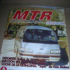 Coches: MTR, Nº 8. AÑO 1995. TOPIC DE ASIA MOTORS. NUEVO HYUNDAY ACCENT. PEUGEOT EL ION... Lote 31278077