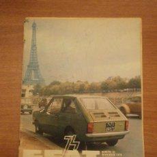Coches: REVISTA SEAT- Nº 93 NOVIEMBRE 1974. Lote 31313029