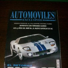 Coches: AUTOMOVILES EXCLUSIVOS Nº 1 - EL RETORNO FORD GT - FERNANDO ALONSO - 25 AÑOS DEL BMW M1. Lote 31578165
