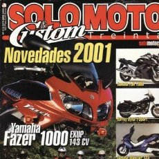 Coches: REVISTA SOLO MOTO TREINTA Nº 212 AÑO 2000. PRUEBA: SUZUKI BANDIT GSF 1200 S/N. YAMAHA CYGNUS 125.. Lote 31892547