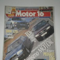 Coches: MOTOR 16 Nº 650 - VOLVO 850 TDI / AUDI A6 TDI / BMW 520 I / ROVER 400 BERLINA. Lote 32090718