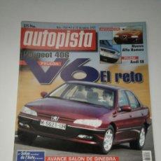 Coches: AUTOPISTA Nº 1964 - PEUGEOT 406 SVE V6 / BMW M ROADSTER / AUDI S8 4.2 QUATTRO / RINSPEED MONO EGO. Lote 32241672