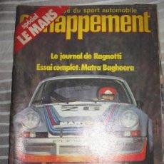 REVISTA ECHAPPEMENT Nº 56 COCHES CLASICOS AUTOMOVIL RALLYES FORMULA 1