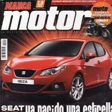 Coches: REVISTA MARCA MOTOR Nº 55 AÑO 2008. PRUEBA: SEAT IBIZA. JAGUAR XF. . Lote 32558070