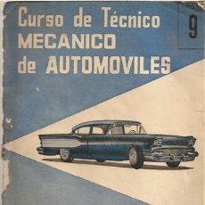 Coches: CURSO DE TÉCNICO DE MECÁNICO DE AUTOMÓVILES. 9. Lote 33088790