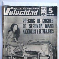 Coches: VELOCIDAD -REVISTA GRAFICA DEL MOTOR N.303 -1967 / PRECIOS COCHES SEGUNDA MANO / PEGASO. Lote 33209067