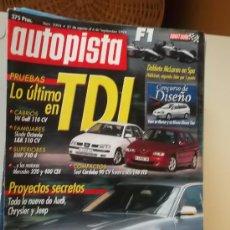 Coches: AUTOPISTA 2094 SEP 1999.ALFA 146 JTD VS CORDOBA TDI.BMW 740D.GOLF CABRIO TDI.OCTAVIA. Lote 33493663