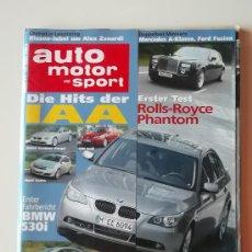 Coches: REVISTA AUTO MOTOR SPORT ALEMANIA MAYO 2003. 220 PAGINAS. Lote 33491185