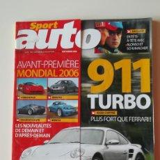 Coches: REVISTA FRANCESA SPORT AUTO SEPTIEMBRE 2006. PORSCHE 911 TURBO. Lote 33491222
