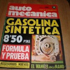 Coches: AUTOMECANICA,NUMERO 27,NOVIEMBRE 1971. Lote 34051572