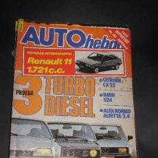 COCHES CLASICOS AUTOMOVIL FORMULA 1 RALLYES - REVISTA AUTO HEBDO Nº 30 CITROEN CX