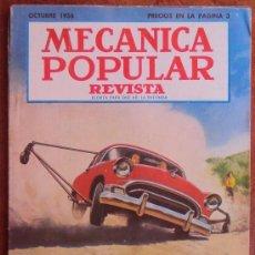 Coches: REVISTA MECANICA POPULAR OCTUBRE 1956. VER INDICE Y FOTOS. Lote 34590053