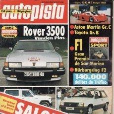 Cars - REVISTA AUTOPISTA Nº 1242 AÑO 1983. PRUEBA: ROVER 350 VANDEN PLAS. - 35766086