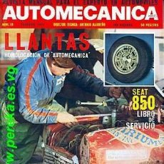 Coches: AUTOMECANICA Nº 18 FEBRERO 1971 SEAT 850. Lote 35050318
