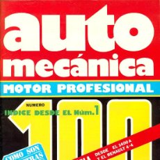 Coches: AUTOMECANICA Nº 100 ABRIL 1978 INDICE. Lote 35052825
