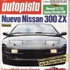 Coches: REVISTA AUTOPISTA Nº 1608 AÑO 1990. PRUEBA: RENAULT 21 TXI. CITROËN XM 2.0 V6. CITROËN XM 2.0 DIESEL. Lote 49768097
