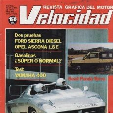 Coches: REVISTA VELOCIDAD Nº 1126 AÑO 1983. PRUEBA: FORD SIERRA DIESEL. OPEL ASCONA 1.8 E. YAMAHA XS 400.. Lote 35410303