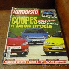 Coches: REV. AUTOPISTA Nº1968.-COUPES BUEN PRECIO EXT. RPTAJEAUDI A3,BMW M3 SMGLLANCIA. Lote 35570199