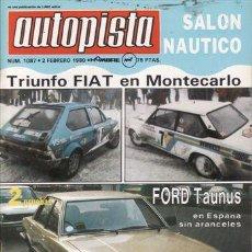 Autos - REVISTA AUTOPISTA Nº 1087 AÑO 1980. PRUEBA: JAGUAR XJ6 4.2. FORD TAURUS 2.0 GL. - 35584240